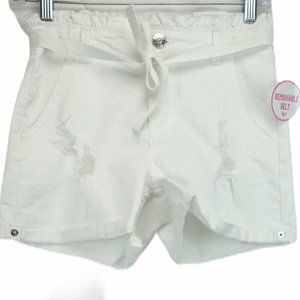 NWT Justice white high waisted shorts